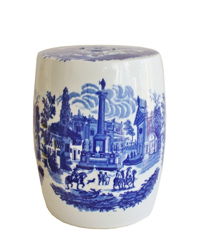 Vintage Blue u0026 White Ceramic Garden Stool  sc 1 st  Pinterest & 38 best garden stools images on Pinterest | Ceramic garden stools ... islam-shia.org