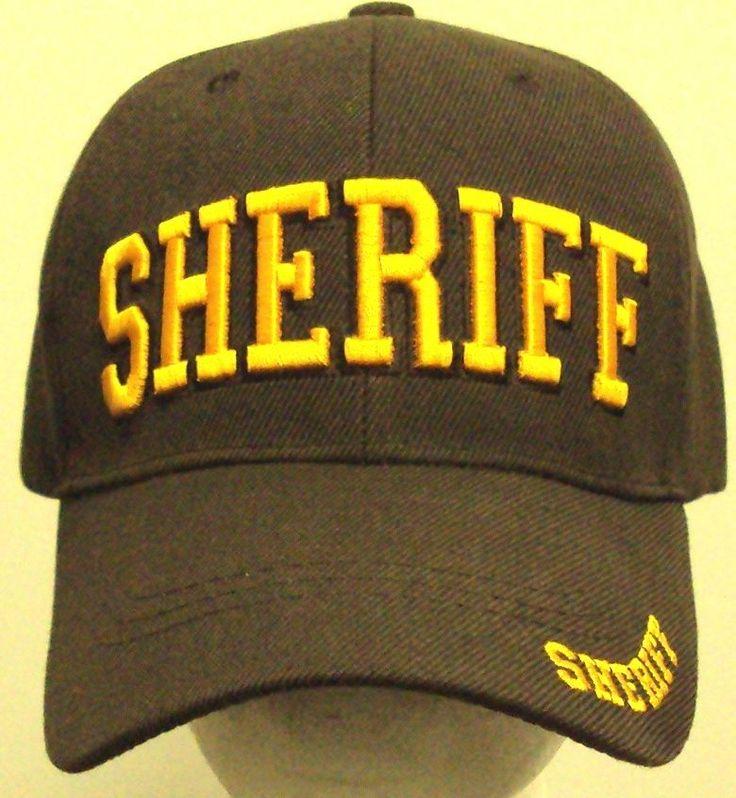 BROWN GOLD SHERIFF DEPUTY POLICE OFFICER LAW ENFORCEMENT UNIFORM AGENT CAP HAT #PREMIUMHATS #BaseballCap