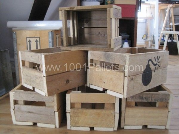 Wooden boxes made of pallets | 1001 Pallets