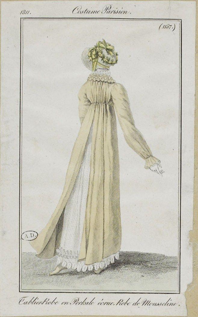 Costume Parisien, 1811, From the Bibliothèque des Arts Décoratifs via SceneInThePast flickr. plate 1157