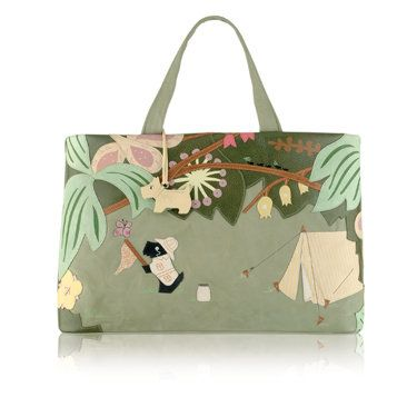 I own this one...love it.  :o)  Radley Signature Radley Get Me Outta Here 2009 20th Radley Signature bag to be released. YEAR: 2009 SEASON: Autumn / Winter NAME: Radley Get Me Outta Here DESCRIPTION:Radley signature Radley Get Me Outta Herebag. This bag features Radley in the jungle. The rear shows a campfire. It is complete with …