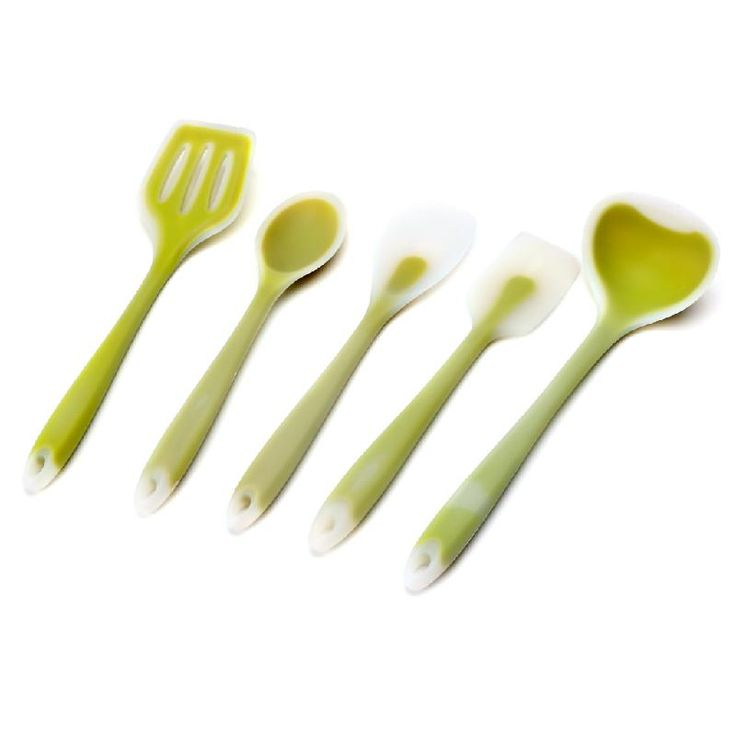 5Pcs Heat Resitant Silicone Cookware Set Kitchen Utensils Set Non-stick Cooking Bake Tools Kit Utensils Spoon Turner Accessories