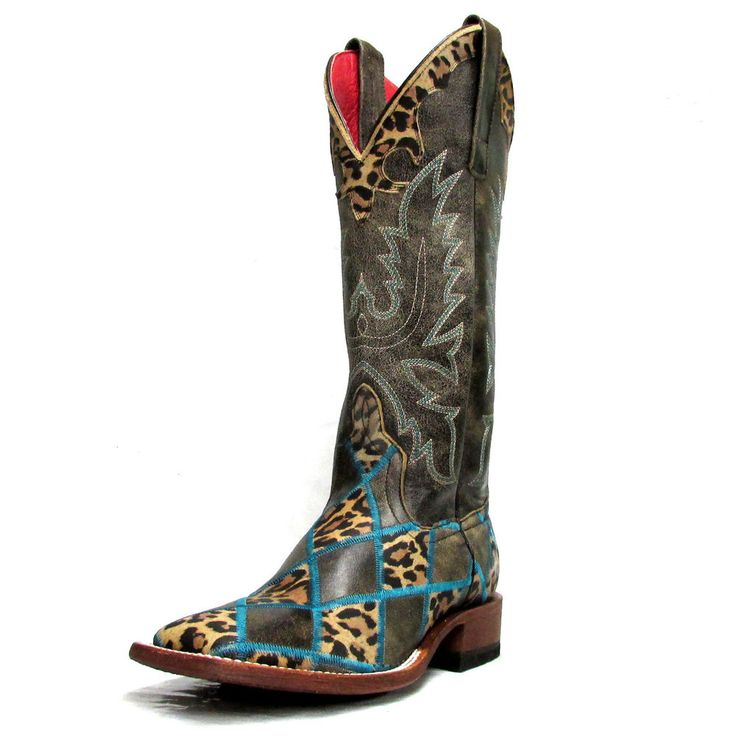 Macie Bean Women's Welcome to the Jungle Patchwork Boots M9067 #AndersonBean #CowboyWestern