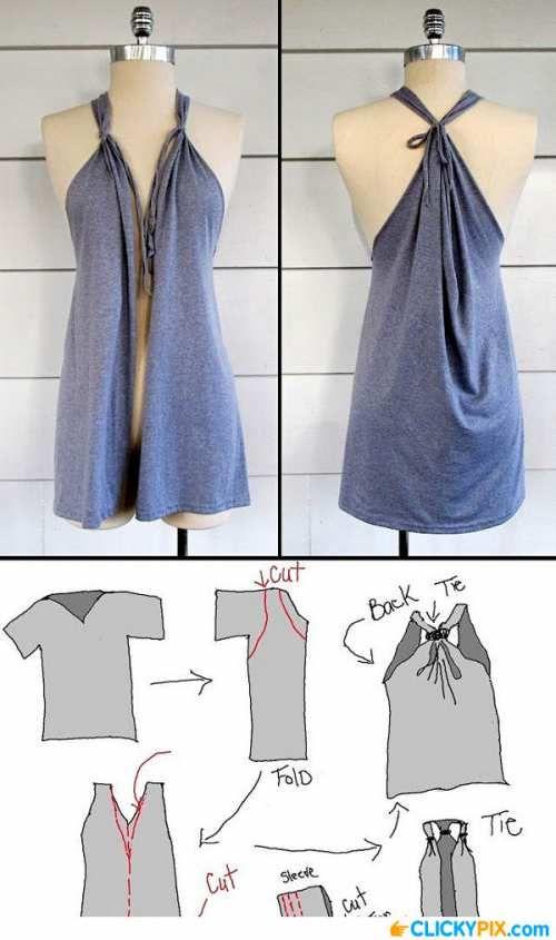 16 DIY Clothing Refashion IdeasPositiveMed   Stay Healthy. Live Happy