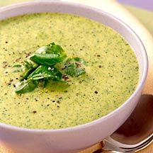 Cream of Broccoli Soup--add 4 Laughing Cow Garlic and Herb Wedges, makes it 4 points plus a serving