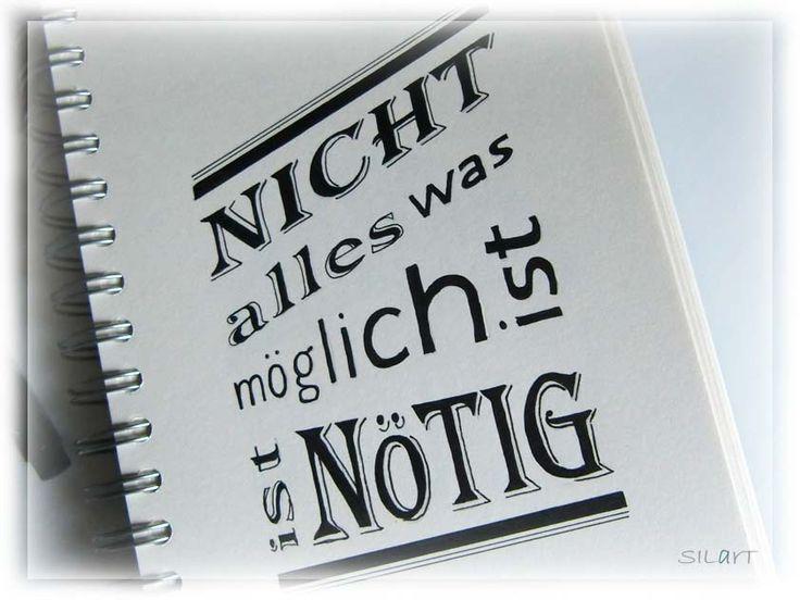 """Handlettering sketchbook """"Nicht alles was möglich ist"""""""