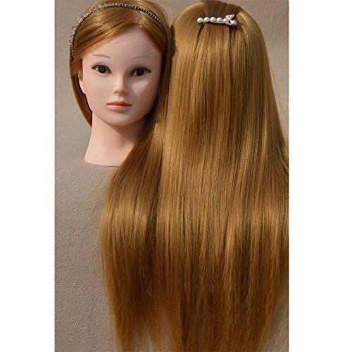 Neverland 26 «Hairdressing 100% la formation de cheveux synthétiques Cosmétologie Mannequin Head avec connexion Clamp 2014 sœur, cadeau de…