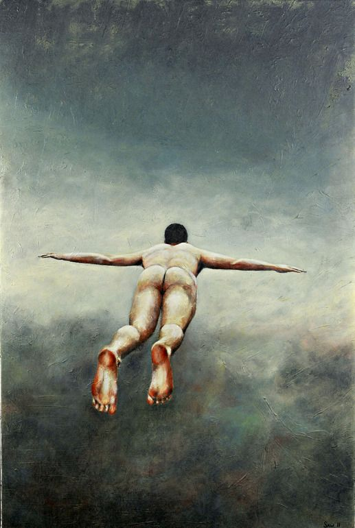 "Ever dream you are flying? Artist: Scott Whelan; Acrylic, Painting ""'Flying'"""