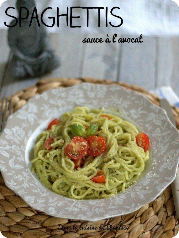 Spaghettis sauce à l'avocat - Recette végane