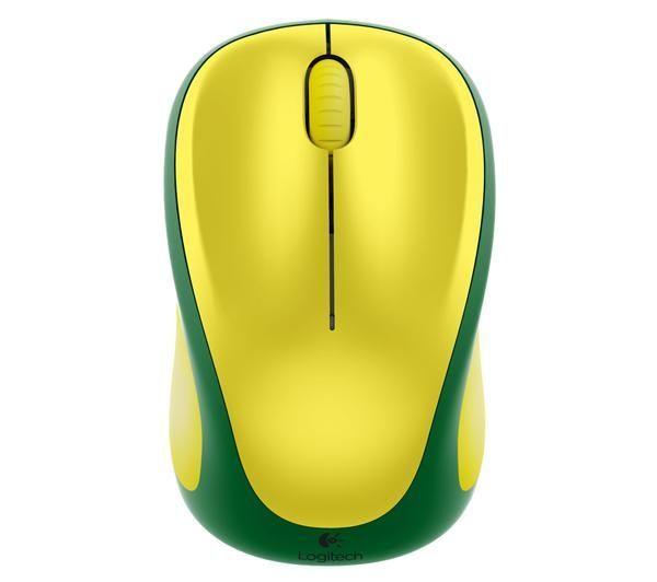 LOGITECH WIRELESS MOUSE M235 - BANDIERA DEL BRASILE - MOUSE OTTICO WIRELESS (EDIZIONE LIMITATA)  Dotato di una forma affusolata e di un rivestimento in gomma, questo mouse wireless viene venduto con un nano ricevitore USB che ti permette di rimanere connesso in wireless a 2,4 GHz. E grazie alla sua autonomia di 12 mesi non dovrai nemmeno preoccuparti di cambiare le pile!