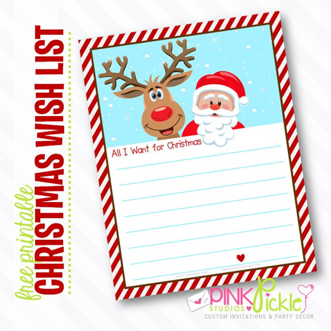 17 Best images about santa christmas list – Free Christmas Wish List