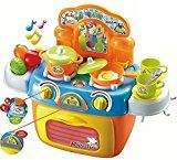 Compact Toy Kitchen Set  Range High and Oven with Lights and Sounds  Play Meals  Toy Pots  Play Kitchen Utensils  A High quality Small Toddler Toy Kitchen Playset