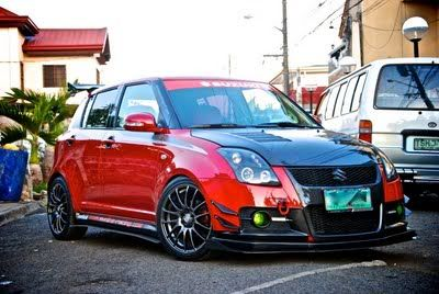 Custom front bumper, HKS rear bumper