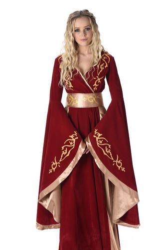 Pas cher Médiévale Reine Cersei Dames Fantaisie Robe Game of Thrones Femmes Adultes Costume, Acheter    de qualité directement des fournisseurs de Chine:1,si fait sur commande, s'il vous plaît choisir la taille de notre tableau des tailles et laisser votre buste, tai
