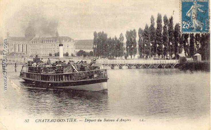 Départ du bateau d`Angers - Chateau Gontier