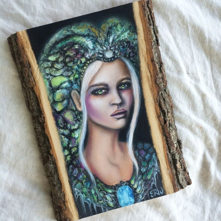 """Serpentina"" - 11"" oil on wood by Artist Erica Wexler"
