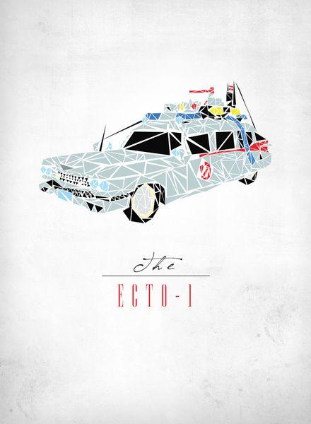 Ecto-1 Art Print by Josh Ln