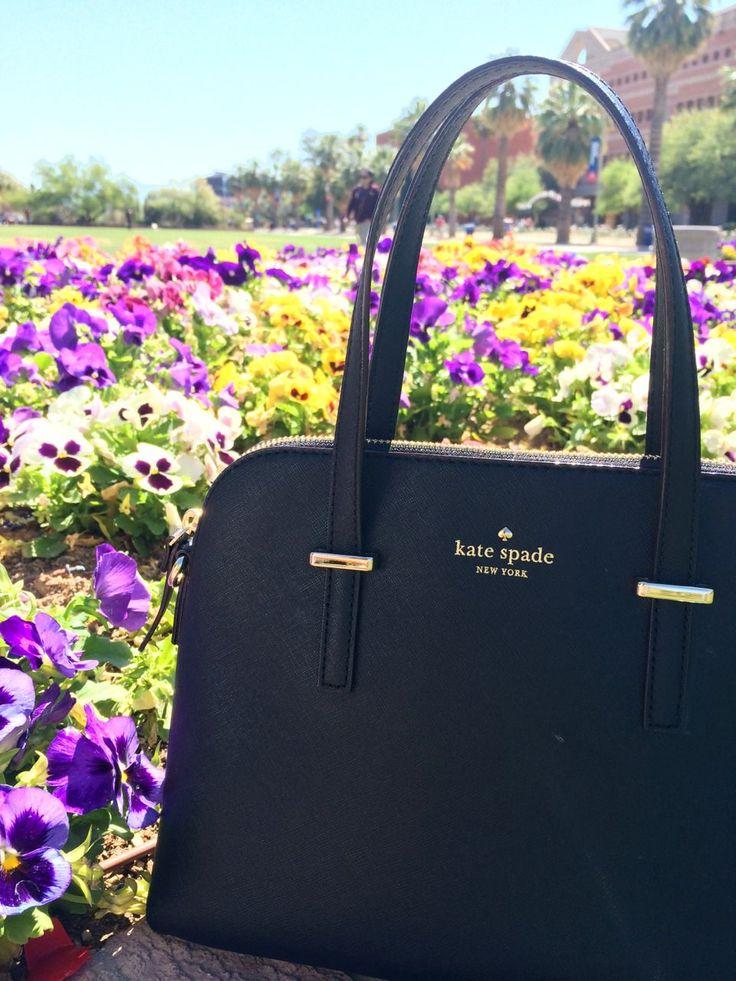 Black Kate Spade leather handbag