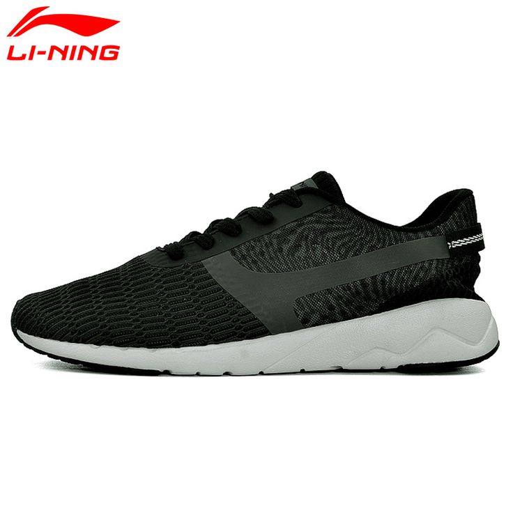 promo li ning mens heather walking shoes lining sports life breathable sneakers light comfort sports #rubber #flooring