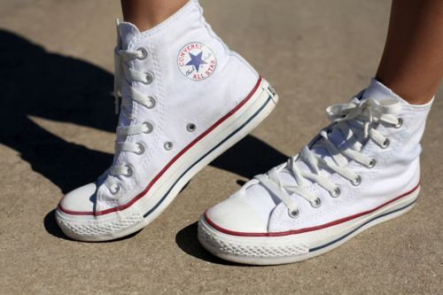 Image result for white high top converse