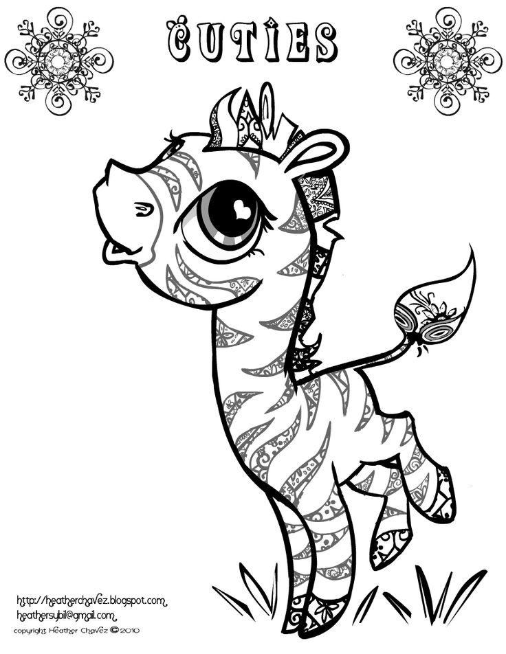 Creative Cuties Free Zeabra Coloring Page