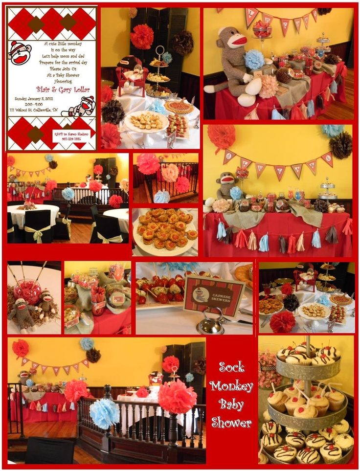 sock monkey baby shower at simply done catering u0026 cupcakes