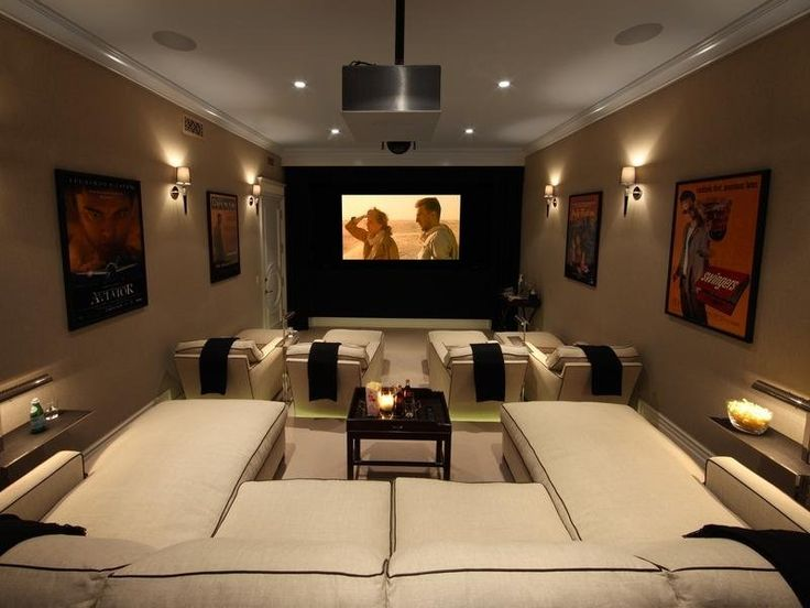 The Media Room Also Features Stadium Seating Theater Rooms Pinterest Seats And