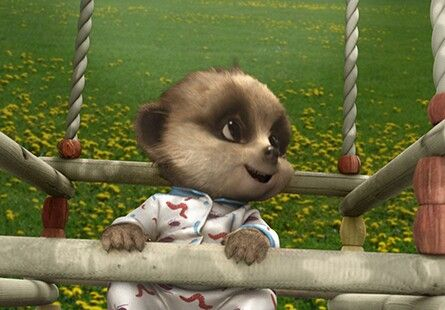 Playtime in the park for Baby Oleg