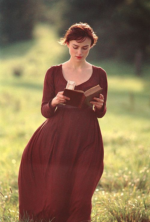 Kiera Knightly playing the headstrong Elizabeth Bennet in the 2005 adaptation of Pride & Prejudice.