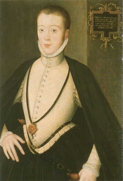 Henry Stuart, Lord Darnley (1545-1567), second husband of Mary, Queen of Scots and father of James VI and I of Scotland and England.  Darnley was insecure and immature, murdering Mary's private secretary, David Rizzio in front of her while she was 7 months pregnant.  He was murdered a year later at Kirk O' Field, and Mary, although likely innocent, was blamed and forced to abdicate the throne in favor of their son, James.