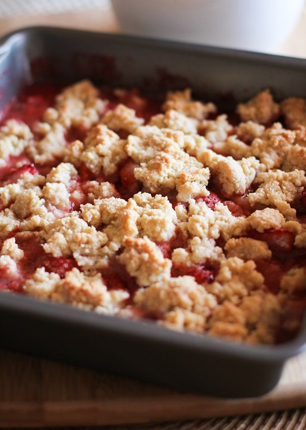 Grain-free strawberry crumble uses almond flour and the natural sweetness of summer strawberries for a dessert that is healthful and easy to make! Happy Friday, my sweet readers! I have a treat for…
