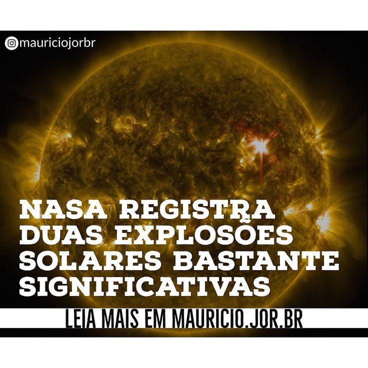 Duas explosões solares bastante significativas foram registradas pelo Observatório de Dinâmica Solar (SDO na sigla em inglês) da Nasa a agência espacial americana na manhã dessa quarta-feira (6). Veja o registro em www.mauricio.jor.br  #sol #sun #nasa #ciência #ciencia #espaço #notícias #noticias #mauricioaraya #mauricioarayacombr #mauriciojorbr