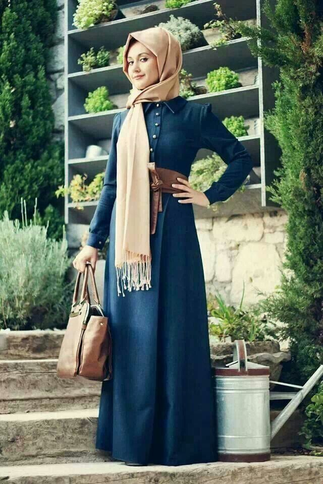 Blue & Cream Hijab