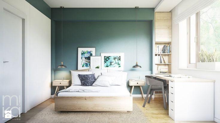 NA ŻOLIBORZU - Średnia sypialnia małżeńska, styl nowoczesny - zdjęcie od M!kaDesign