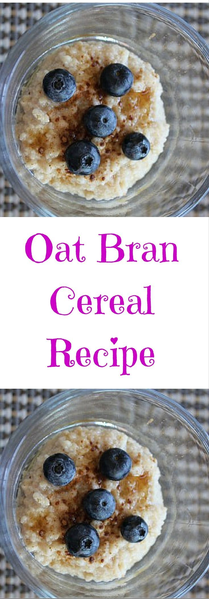 This oat bran cereal recipe is tasty and delicious for breakfast. Click to check this out or pin to save for later.