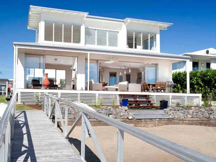 Lovely Weatherboard Beach House Plans   Home Design And Style