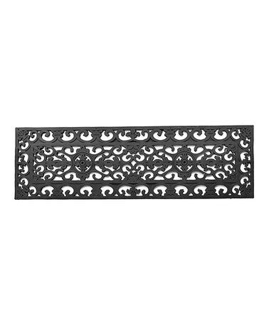 Take a look at this Black Squares Stair Mat by Imports Décor on #zulily today!