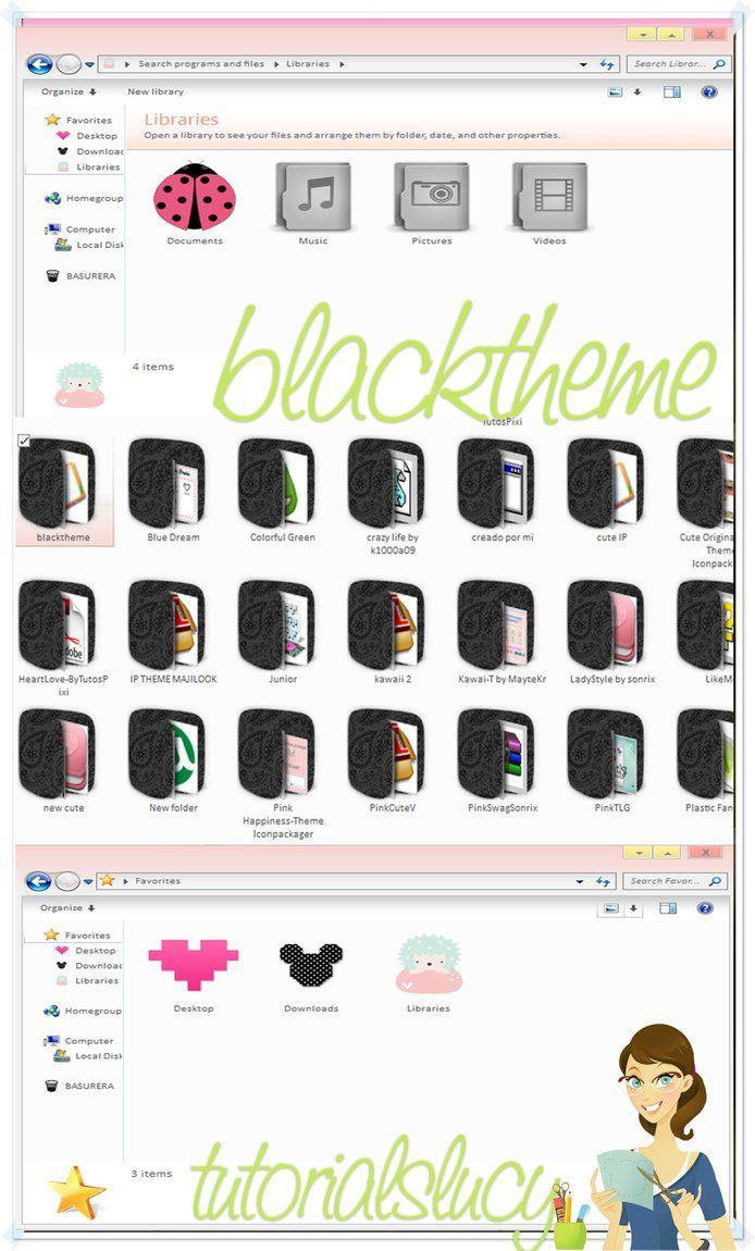 blacktheme iconpackager by tutorialslucy Temas, El credo