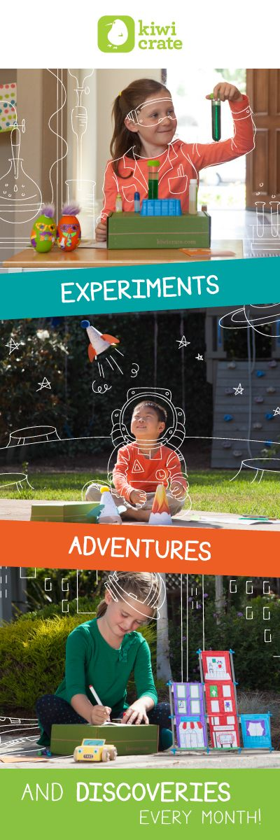 Inspire young innovators with hands-on STEM projects from Kiwi Crate! Learn more....