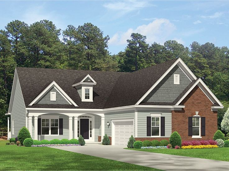Eplans Ranch House Plan Courtyard Style Ranch 1814