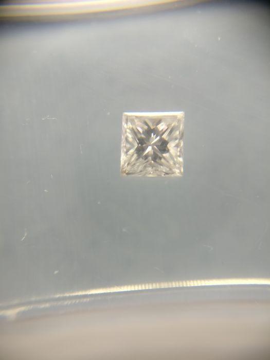 028 ct Princess cut diamond F VS2  -Cert nr.: BB700119-Prinses-028 ct-F-VS2-Zie certificaat voor meer details.  EUR 1.00  Meer informatie