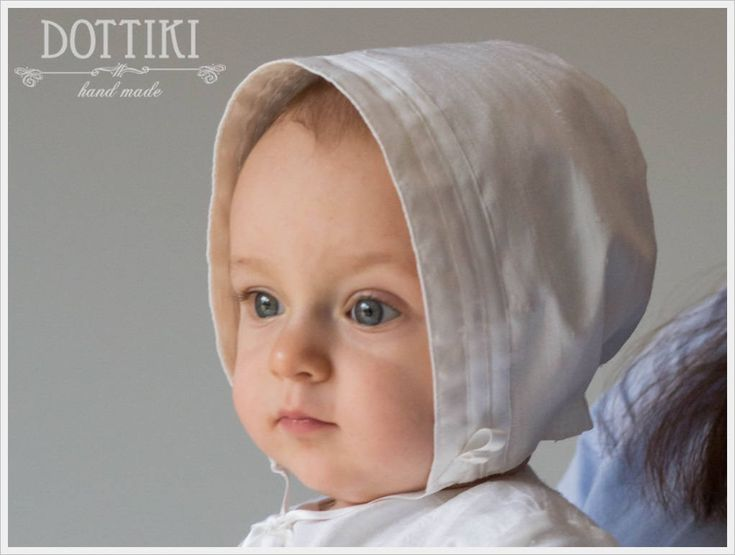 Baby Baptism Bonnet for Boys and Girls, Unisex Silk Christening Bonnet , Baptism Hat, Christening Hat in White or Ivory or Cream by DOTTIKI on Etsy