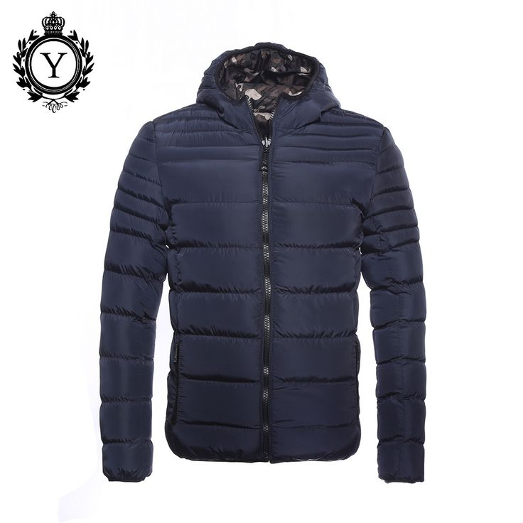 Campera Hombre Invierno Men Winter Coat Revisible Camouflage Thick Parkas Men's Down Jackets Windbreaker Blue Jacket