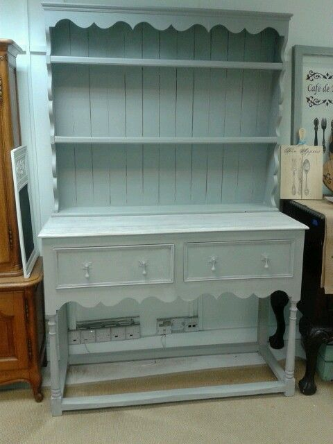Recently finished Welsh dresser transformed with Autentico Chalk paint, white Chalk wax and clear wax @TheCraftyNestUK  www.craftynest.co.uk