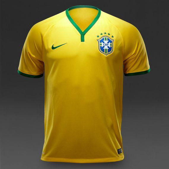 Nike CBF Brasil Short Sleeve Home Jeresy