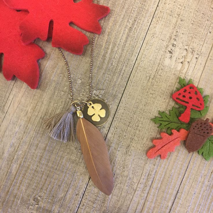 #duepuntihandmade #handmade #handmadewithlove #withlove #bijoux #jewelry #doityourself #diy #autumn #neklace #tassel #feather #colors #charms #red #brown #welcomeautumn #outfit #autumnoutfit #haveaniceday