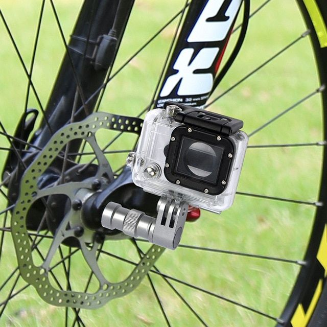 Bgning Portable Bicycle Camera Mount Wheel Hub Bracket Sport