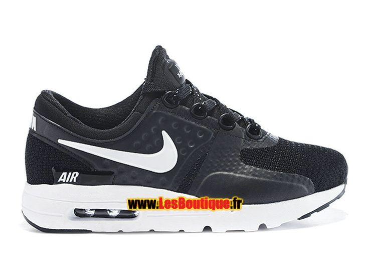 Nike Air Max Zero PS - Chaussure Nike Sportswear Pas Cher Pour Petit Garçon (Taille 28-35) Noir/Blanc 789695-203E