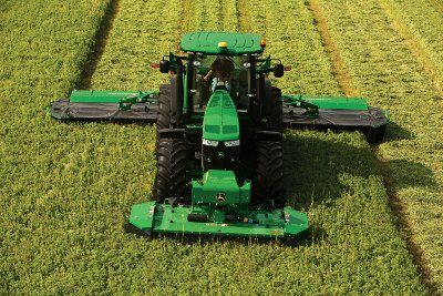 Front Rear Mower Conditioner | ... hay per hour with the john deere triple mounted mower conditioner new