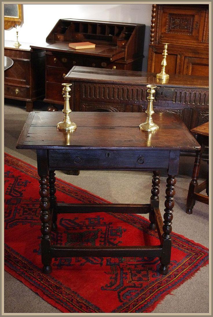 Charles II oak side table. Circa 1670 www.robinwheatley-antiques.co.uk